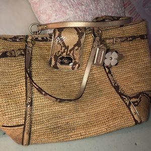 Coach straw purse